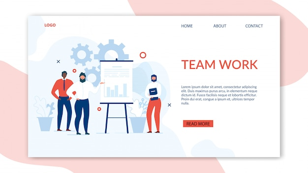 Teamwork and collaboration benefits landing page