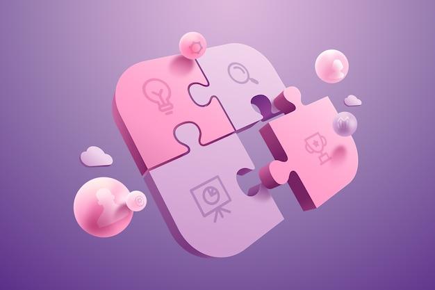 Концепция совместной работы фон в 3d