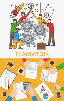 Illustration of business people in the meeting Vector | Free Download
