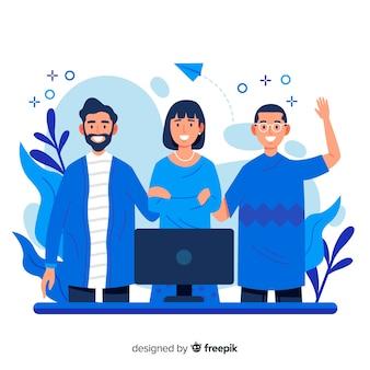 Концепция совместной работы для целевой страницы