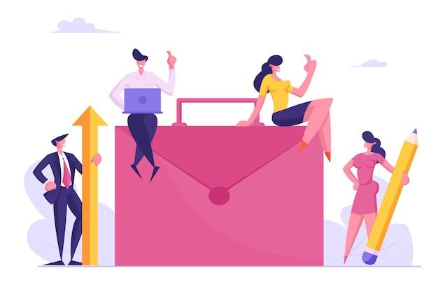 チームワークの協力、パートナーシップ、事務作業の概念