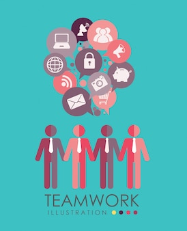 Teamwork design vector illustration