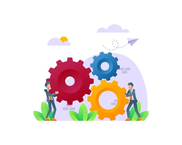 Концепция иллюстрации совместной работы