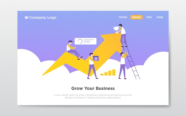 Teamwork landing page illustration