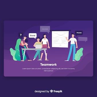 Teamwork landing page template