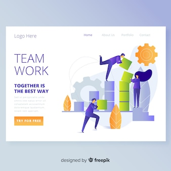 Teamwork landing page
