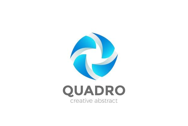 Teamwork logo. abstract social media network logotype Premium Vector