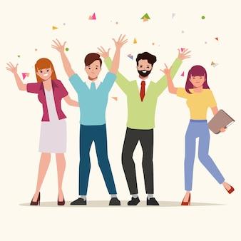 Работа в команде деловых людей успешный характер