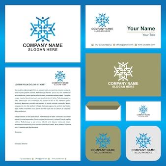 Коллективная работа люди логотип логотип логотип peopel и визитная карточка