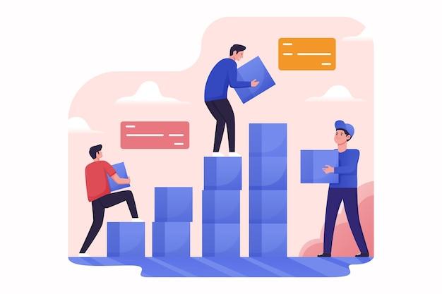 Блоки для совместной работы для роста бизнеса