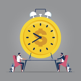 Teamwork and time management concept