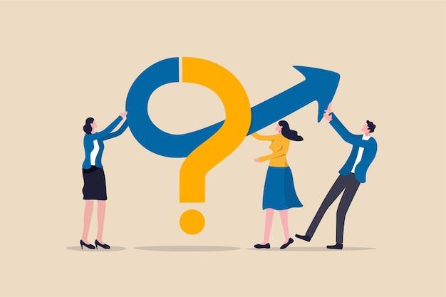 Работа в команде для решения бизнес-проблемы иллюстрации