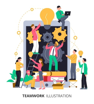Работа в команде над идеей