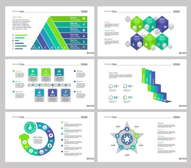 Шесть наборов шаблонов слайдов teamwork