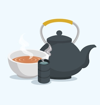 Teapot classic isolated icon