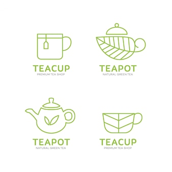 Teapot and teacup logo template