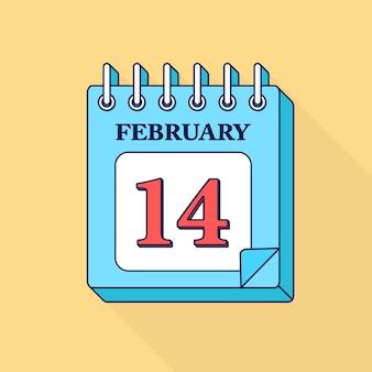 Отрывной календарь на февраль. с днем святого валентина, 14 февраля