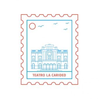 Teatro la carided postage stamp