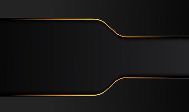 コントラストデザインイラストとテック黒背景