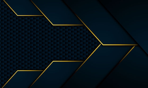 コントラストオレンジイエローのストライプとテックブラックの背景。抽象的なベクトルグラフィックパンフレットのデザイン