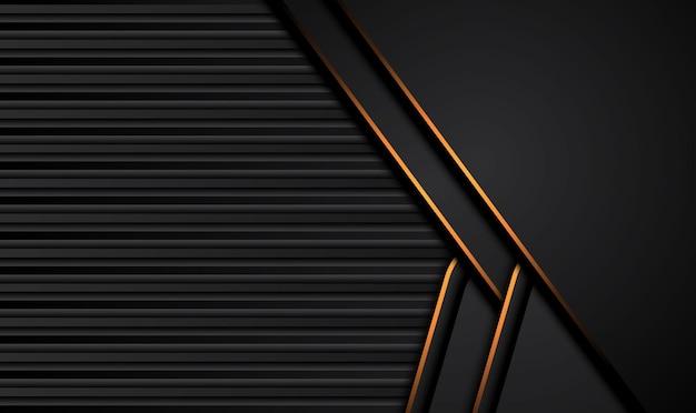 コントラストオレンジイエローのストライプとテックブラックの背景。