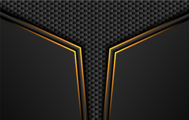 Tech black background with contrast orange yellow stripes.