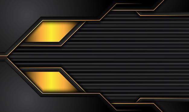 対照的な黄色の縞模様のハイテク黒背景。