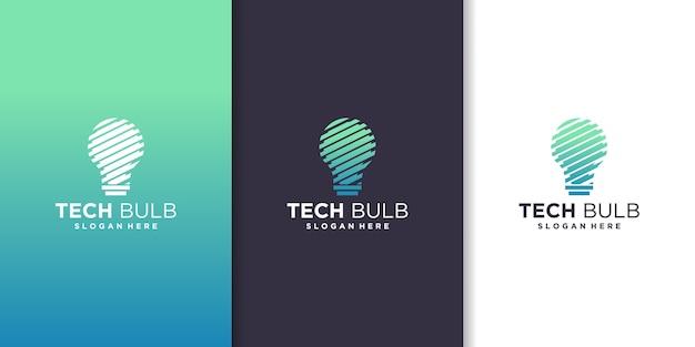 Tech bulb, inspiration for technology logo design