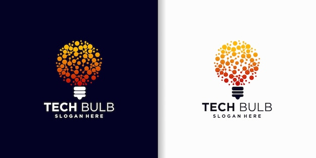 Tech bulb, inspiration for technology logo design