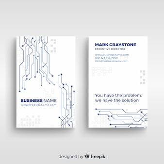 Tech business card