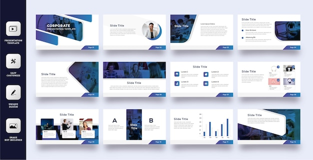 Tech business slide presentation template