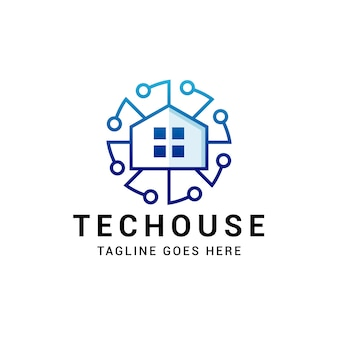 Tech circle house logo