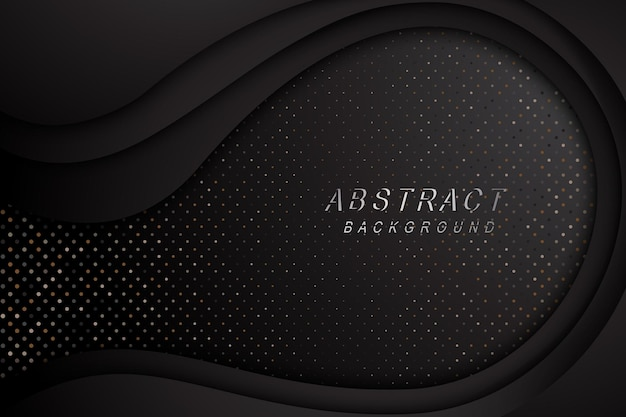 Tech dark abstract design texture with metals glitters dots decoration