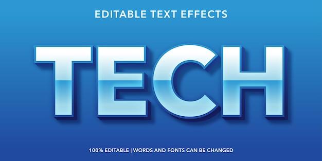 Tech editable text effect
