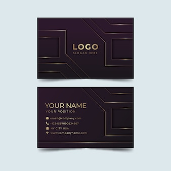 Tech elegant visiting card template