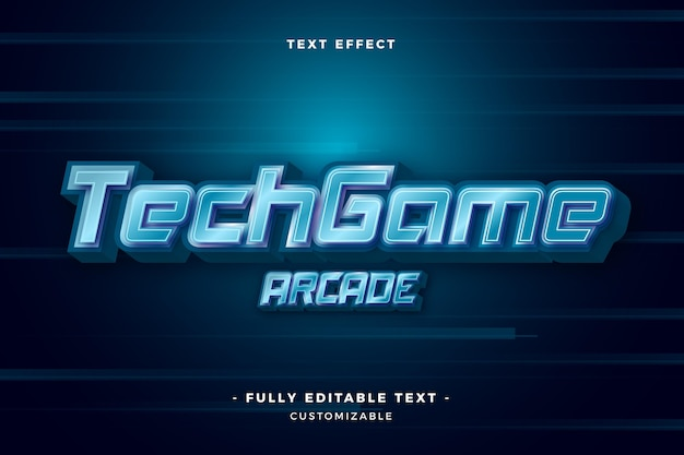 Tech game arcade text effect