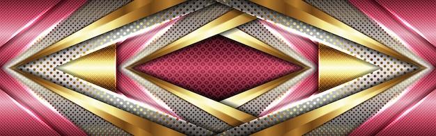 Технический серый розовый геометрический стиль с абстрактными золотыми линиями