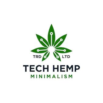 Tech hemp premium logo