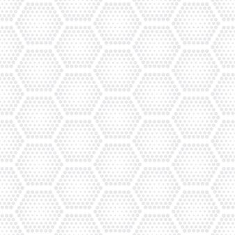 Tech hex halftone light seamless pattern