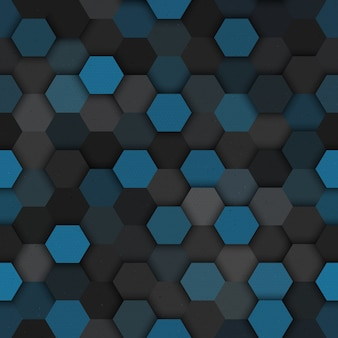Tech hexagonal seamless pattern vector