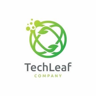 Tech leaf logo