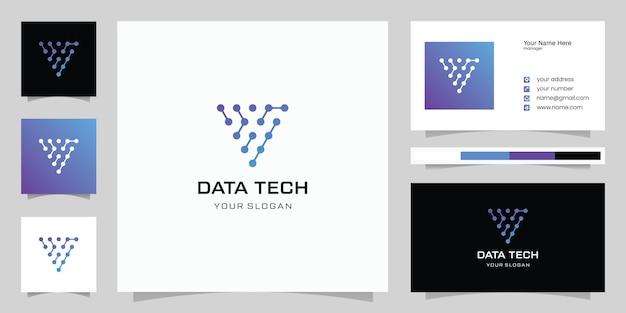 기술 편지 v 로고 편지 v 로고 디자인 서식 파일 기술 로고 아이콘