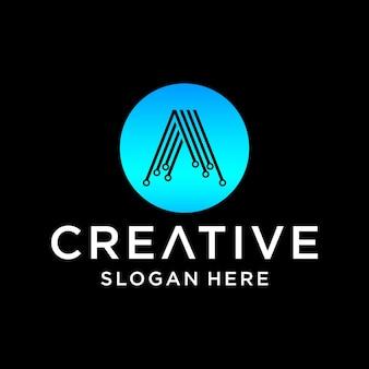 A tech logo design