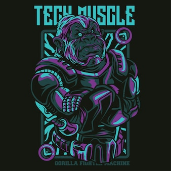 Tech muscle illustration