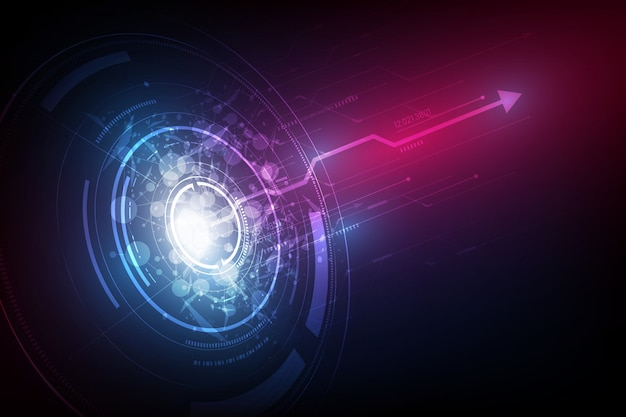 Tech sci fi круг дизайн инноваций фон