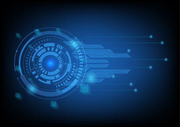 Технология фон с кругом tech