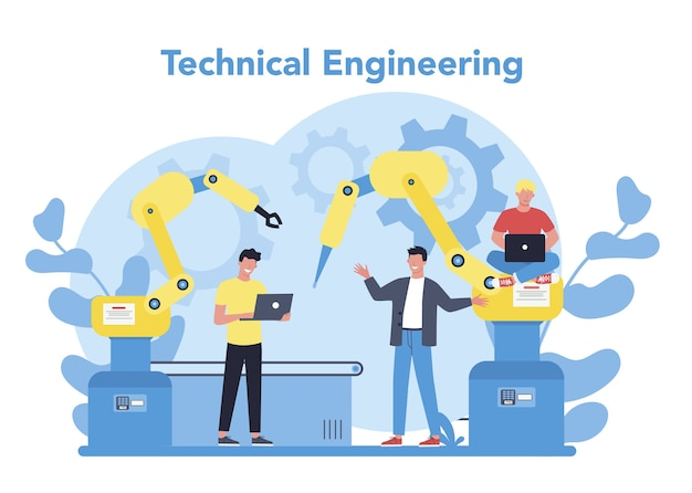 Technical engineering concept