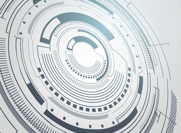 Technical futuristic background