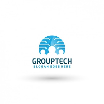 技術グループのロゴテンプレート
