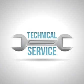 Technical service over gray background vector illustration